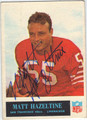 MATT HAZELTINE AUTOGRAPHED VINTAGE FOOTBALL CARD #102212E