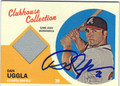 DAN UGGLA AUTOGRAPHED PIECE OF THE GAME BASEBALL CARD #102212Q