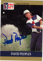DAVID PEOPLES AUTOGRAPHED GOLF CARD #102212N