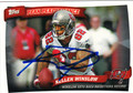 KELLEN WINSLOW TAMPA BAY BUCCANEERS AUTOGRAPHED FOOTBALL CARD #102313C