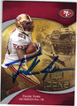 FRANK GORE SAN FRANCISCO 49ers AUTOGRAPHED FOOTBALL CARD #102313E