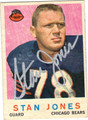 STAN JONES AUTOGRAPHED VINTAGE FOOTBALL CARD #102412D