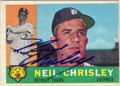 NEIL CHRISLEY AUTOGRAPHED VINTAGE BASEBALL CARD #102412K