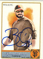 BRIAN WILSON AUTOGRAPHED BASEBALL CARD #102712F