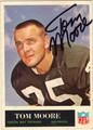 TOM MOORE AUTOGRAPHED VINTAGE FOOTBALL CARD #102712G
