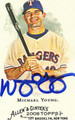 MICHAEL YOUNG AUTOGRAPHED BASEBALL CARD #102411i