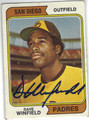 DAVE WINFIELD SAN DIEGO PADRES AUTOGRAPHED VINTAGE ROOKIE BASEBALL CARD #102713E