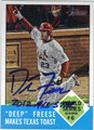 DAVID FREESE ST LOUIS CARDINALS AUTOGRAPHED BASEBALL CARD #102713H