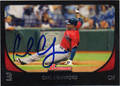 CARL CRAWFORD BOSTON RED SOX AUTOGRAPHED BASEBALL CARD #102713G