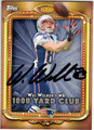 WES WELKER NEW ENGLAND PATRIOTS AUTOGRAPHED FOOTBALL CARD #102813G
