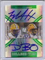 Joseph Addai & Dwayne Bowe Dual Autographed & Numbered  Football Card 103010K