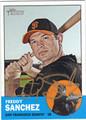 FREDDY SANCHEZ AUTOGRAPHED BASEBALL CARD #102812C