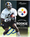 CHRIS RAINEY AUTOGRAPHED ROOKIE FOOTBALL CARD #102912D