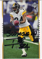 IKE TAYLOR PITTSBURGH STEELERS AUTOGRAPHED FOOTBALL CARD #10313A