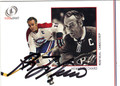 HENRI RICHARD MONTREAL CANADIENS AUTOGRAPHED HOCKEY CARD #10313B