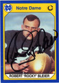 ROCKY BLEIER NOTRE DAME AUTOGRAPHED FOOTBALL CARD #10313F