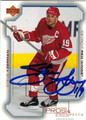 STEVE YZERMAN DETROIT RED WINGS AUTOGRAPHED HOCKEY CARD #10314A