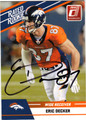 ERIC DECKER DENVER BRONCOS AUTOGRAPHED ROOKIE FOOTBALL CARD #10313J