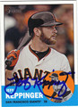 JEFF KEPPINGER AUTOGRAPHED BASEBALL CARD #102912E