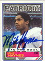 MIKE HAYNES AUTOGRAPHED VINTAGE FOOTBALL CARD #103112F