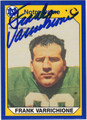 FRANK VARRICHIONE NOTRE DAME AUTOGRAPHED FOOTBALL CARD #10413G