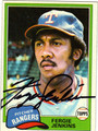 FERGIE JENKINS AUTOGRAPHED BASEBALL CARD #10511H