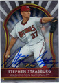 STEPHEN STRASBURG WASHINGTON NATIONALS AUTOGRAPHED BASEBALL CARD #103112H
