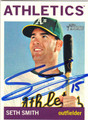 SETH SMITH OAKLAND ATHLETICS AUTOGRAPHED BASEBALL CARD #103113D