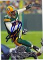 GREG JENNINGS AUTOGRAPHED FOOTBALL CARD #10512K