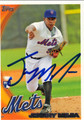 JENRRY MEHIA NEW YORK METS AUTOGRAPHED ROOKIE BASEBALL CARD #10513K