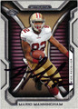 MARIO MANNINGHAM SAN FRANCISCO 49ers AUTOGRAPHED FOOTBALL CARD #10514L