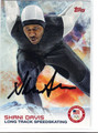 SHANI DAVIS OLYMPIC SPEEDSKATING AUTOGRAPHED CARD #10514P