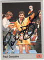 PAUL GONZALES AUTOGRAPHED BOXING CARD #10414C