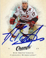 ROD BRIND'AMOUR CAROLINA HURRICANES AUTOGRAPHED HOCKEY CARD #10513i