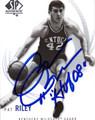 PAT RILEY KENTUCKY WILDCATS AUTOGRAPHED BASKETBALL CARD #10513M