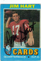 JIM HART ST LOUIS CARDINALS AUTOGRAPHED VINTAGE FOOTBALL CARD #10614J