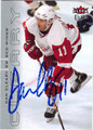 DAN CLEARY DETROIT RED WINGS AUTOGRAPHED HOCKEY CARD #10713F
