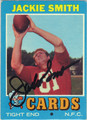 JACKIE SMITH ST LOUIS CARDINALS AUTOGRAPHED VINTAGE FOOTBALL CARD #10714N
