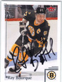 RAY BOURQUE BOSTON BRUINS AUTOGRAPHED HOCKEY CARD #10714O