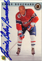 "EMILE ""BUTCH"" BOUCHARD MONTREAL CANADIENS AUTOGRAPHED HOCKEY CARD #10813D"
