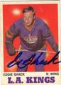 EDDIE SHACK LOS ANGELES KINGS AUTOGRAPHED VINTAGE HOCKEY CARD #10813G