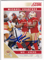 MICHAEL CRABTREE SAN FRANCISCO 49ers AUTOGRAPHED FOOTBALL CARD #10814B