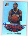 DANNY GRANGER INDIANA PACERS AUTOGRAPHED BASKETBALL CARD #10714U
