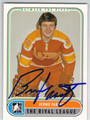 BERNIE PARENT PHILADELPHIA BLAZERS AUTOGRAPHED HOCKEY CARD #10913A