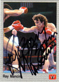 RAY BOOM BOOM MANCINI AUTOGRAPHED BOXING CARD #10913H