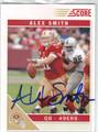 ALEX SMITH SAN FRANCISCO 49ers AUTOGRAPHED FOOTBALL CARD #10814H