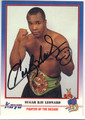 SUGAR RAY LEONARD AUTOGRAPHED BOXING CARD #10814i