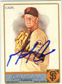 MATT CAIN SAN FRANCISCO GIANTS AUTOGRAPHED BASEBALL CARD #10714S