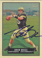DREW BREES PURDUE UNIVERSITY BOILERMAKERS AUTOGRAPHED FOOTBALL CARD #10814K