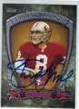 STEVE YOUNG SAN FRANCISCO 49ers AUTOGRAPHED FOOTBALL CARD #10714T